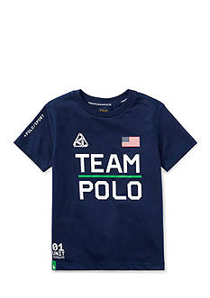 Ralph Lauren Childrenswear Performance Jersey Graphic Tee Toddler Boys
