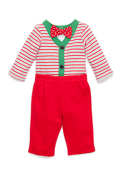 Nursery Rhyme® 3-Piece Bodysuit, Bow Tie, and Pants Set