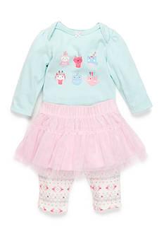 Nursery Rhyme 3-Piece Owl Bodysuit, Tutu and Legging Set