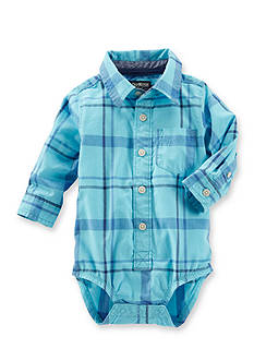 OshKosh B'gosh® Plaid Polo Bodysuit