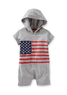 OshKosh B'gosh® Grey Flag Hooded Shortall