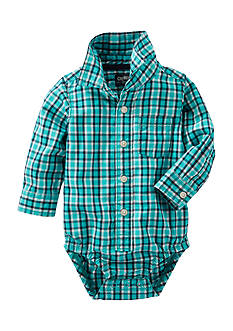 OshKosh B'gosh Plaid Button-Front Bodysuit