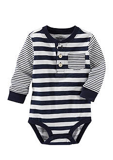 OshKosh B'gosh® Multi-Stripe Henley Bodysuit