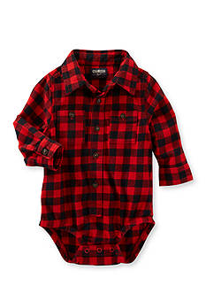 OshKosh B'gosh Buffalo Check Button Front Bodysuit