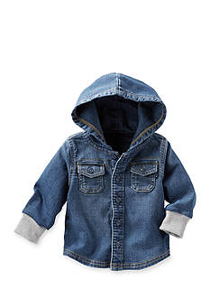 OshKosh B'gosh Hooded Denim Button-Front Shirt