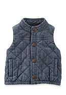 OshKosh B'gosh® Quilted Chambray Vest
