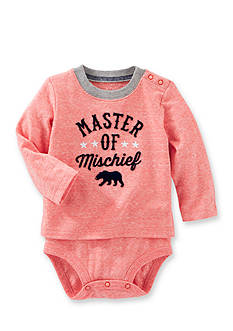 OshKosh B'gosh® Flocked Double-Decker Snow Yarn Bodysuit