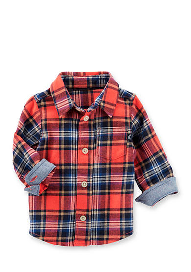 OshKosh B'gosh® Lightweight Flannel Button Front Shirt