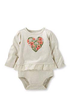 OshKosh B'gosh Flower Heart Ruffle-Hem Bodysuit