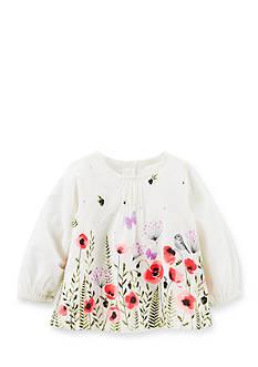 OshKosh B'gosh Floral Pin-Tucked Top