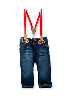 OshKosh B'gosh Suspender Dark Wash Jeans