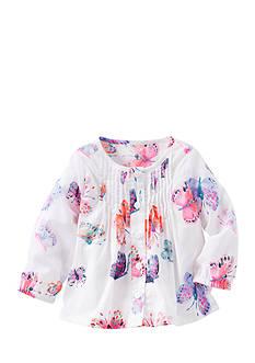 OshKosh B'gosh Butterfly Print Pin-Tucked Top Infant/Baby Girls
