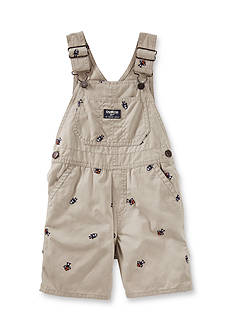 OshKosh B'gosh Schiffli Robot Canvas Shortalls