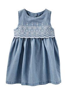 OshKosh B'gosh 2-Piece Two-Tier Eyelet Chambray Dress Set
