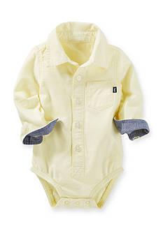 OshKosh B'gosh Button-Front Woven Bodysuit