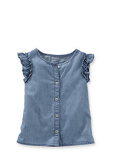 OshKosh B'gosh® Chambray Clip Dot Top Toddler Girls