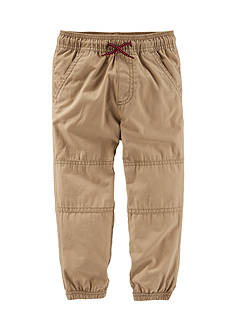 OshKosh B'gosh Khaki Canvas Joggers Toddler Boys