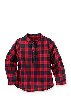 OshKosh B'gosh Plaid Popover Poplin Top Toddler Girls