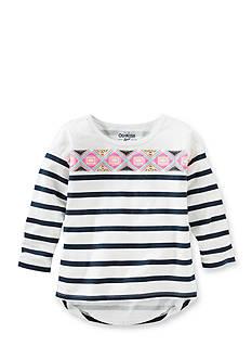 OshKosh B'Gosh Printed Stripe High Low Top Toddler Girls