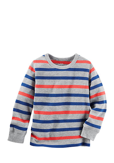 OshKosh B'gosh® Long Sleeve Striped Thermal Top Toddler Boys