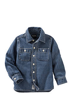 OshKosh B'gosh Long Sleeve 2-Pocket Button-Front Shirt Toddler Boys