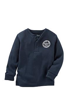 OshKosh B'gosh Long Sleeve Logo Henley Thermal Toddler Boys