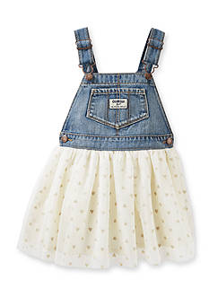 OshKosh B'gosh Ivory Sparkle Tulle Jumper Toddler Girls