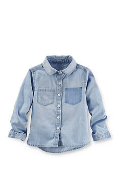 OshKosh B'gosh Removed Pocket Chambray Top Toddler Girl