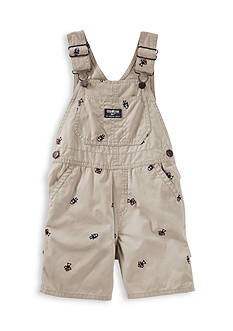 OshKosh B'gosh Robot Schiffli Canvas Shortalls Toddler Boys