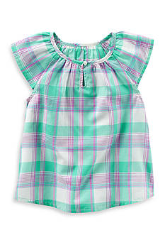 OshKosh B'gosh Plaid Print Poplin Top Toddler Girls