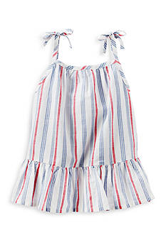 OshKosh B'gosh Striped Chambray Ruffle Hem Top Toddler Girls
