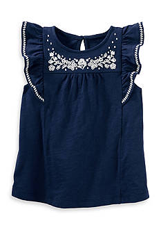OshKosh B'gosh Embellished Flutter-Sleeve Top Toddler Girls