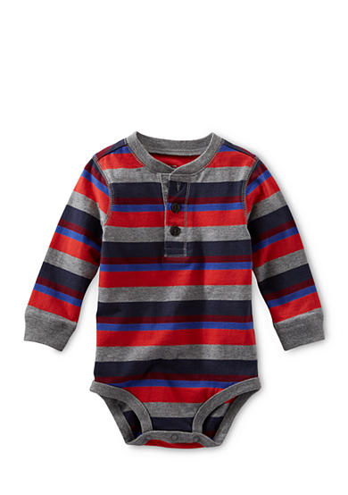 OshKosh B'gosh® Long Sleeve Striped Jersey Bodysuit