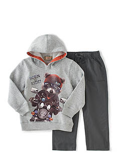 Kids Headquarters 2-Piece Motorcycle Hoodie and Pant Set