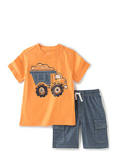 Kids Headquarters 2-Piece Dump Truck Tee and Shorts Set