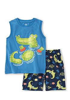 Kids Headquarters 2-Piece Crocodile Muscle Top and Shorts Set