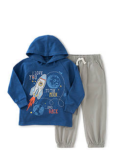 Kids Headquarters 2-Piece I Love You To The Moon Hoodie and Jogger Pants Set