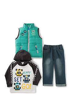 Kids Headquarters 3-Piece Vest, Tee, and Pant Set