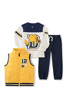 Kids Headquarters 3-Piece Vest, Tee, and Jogger Set