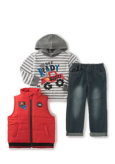 Kids Headquarters 3-Piece Vest, Thermal, and Pant Set