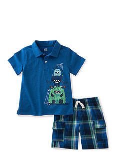 Kids Headquarters 2-Piece Monster Polo Set Toddler Boys
