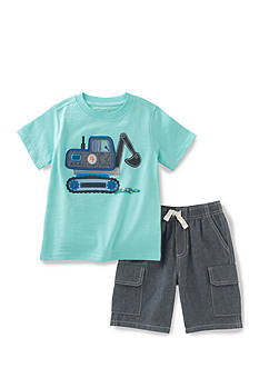 Kids Headquarters 2-Piece Construction Tee and Short Set
