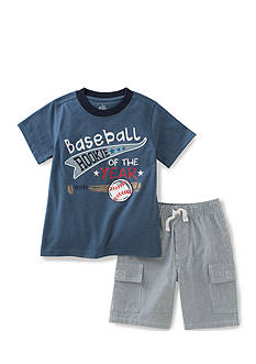 Kids Headquarters 2-Piece Baseball Tee and Short Set