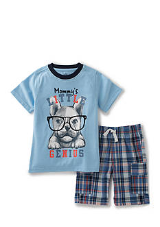 Kids Headquarters 2-Piece Little Genius Tee and Short Set