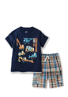 Kids Headquarters 2-Piece 'Construction Zone' Tee and Shirt Set