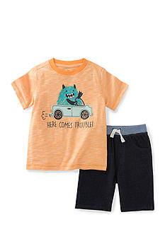 Kids Headquarters 2-Piece 'Here Comes Trouble' Tee and Short Set