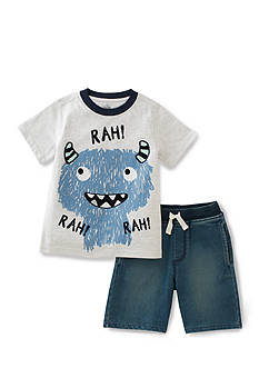 Kids Headquarters 2-Piece 'Rah' Monster Tee and Short Set