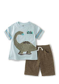 Kids Headquarters 2-Piece Dinosaur Tee and Short Set
