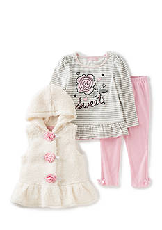 Kids Headquarters Vest with Lilac Tee and Pants Set Toddler Girls