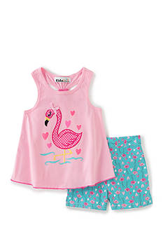 Kids Headqrtrs Inf/Tdlr 2-Piece Flamingo Tank Top and Short Set Toddler Girls